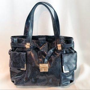 Michael Kors Beverly Bag in Blue Snake